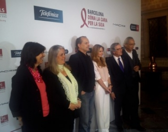 "Press conference to introduce ""Barcelona stands up to AIDS"""